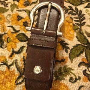 Men's leather Ferragamo belt. ✔️Firm Price✔️